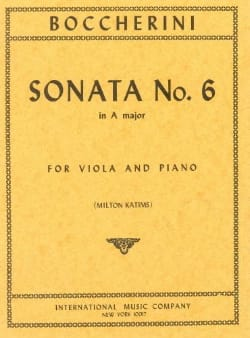 Sonate n° 6 la majeur - Alto BOCCHERINI Partition Alto - laflutedepan