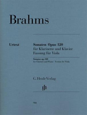 BRAHMS - Opus 120 sonatas for viola and piano - Partition - di-arezzo.com