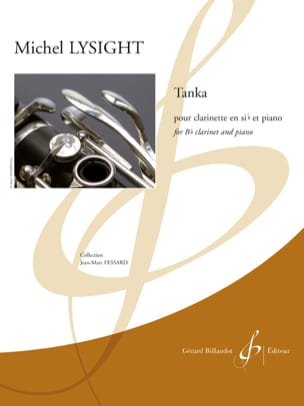 Tanka - Clarinette et piano Michel Lysight Partition laflutedepan
