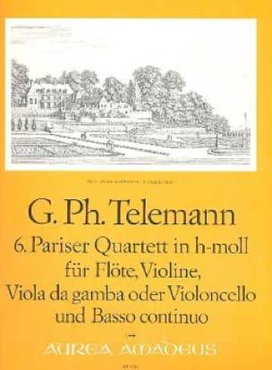 Pariser Quartett Nr. 6 h-moll -Flöte Violine Viola da gamba BC - laflutedepan.com