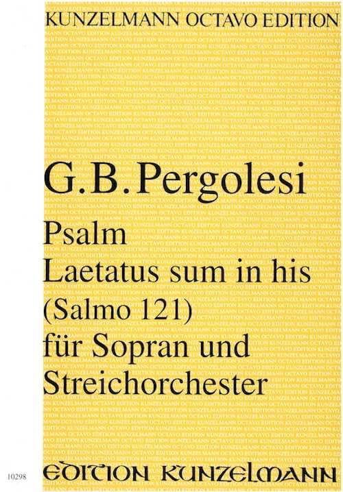 Psalm 121 - Laetatus sum in his - Partitur - laflutedepan.com