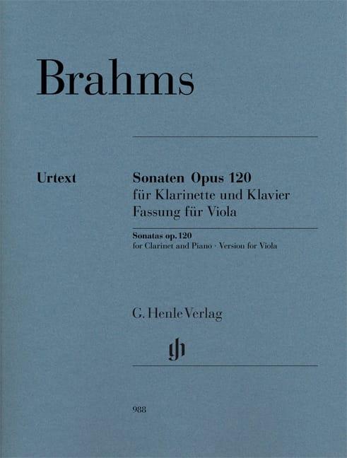 Sonates opus 120 pour alto et piano - BRAHMS - laflutedepan.com