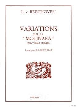 Variations sur la Molinara BEETHOVEN Partition Violon - laflutedepan