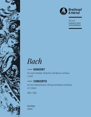 Konzert c-moll für 2 Cembali BWV 1060 - Conducteur BACH laflutedepan