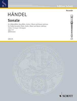 Sonate C-Dur op. 1 n° 7 - Altblockflöte u. Bc HAENDEL laflutedepan