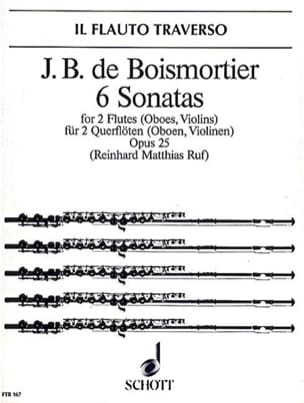 BOISMORTIER - 6 Sonaten op. 25 - 2 Flöten Oboen, Violinen - Partition - di-arezzo.com