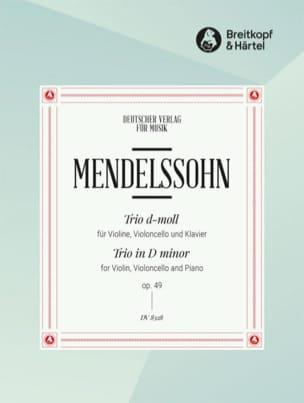 Klaviertrio d-moll op. 49 MENDELSSOHN Partition Trios - laflutedepan