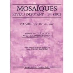 Mosaïques Débutant 1ère Série - Clé De Sol Avec Acct - laflutedepan.com