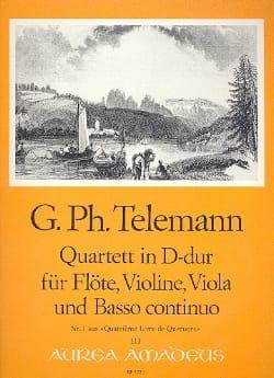 Quartett D-Dur -Flöte Violine Viola BC TELEMANN laflutedepan