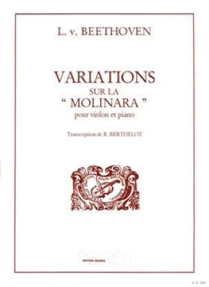 Variations sur la Molinara - BEETHOVEN - Partition - laflutedepan.com