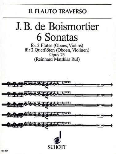 6 Sonaten op. 25 - 2 Flöten Oboen, Violinen - laflutedepan.com