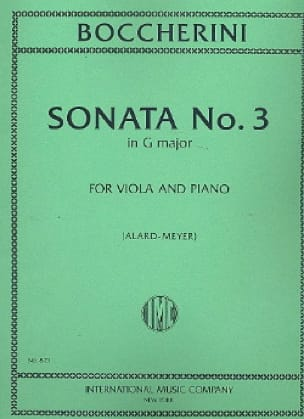 Sonate n° 3 sol majeur - Alto - BOCCHERINI - laflutedepan.com