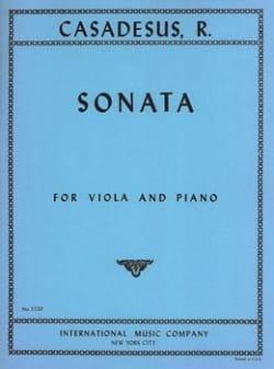 Sonata op. 12 - Viola piano - CASADESUS - Partition - laflutedepan.com