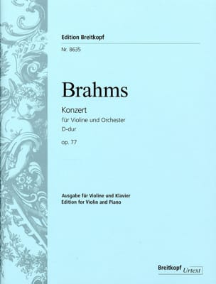 Concerto Pour Violon Opus 77 Ré Majeur BRAHMS Partition laflutedepan