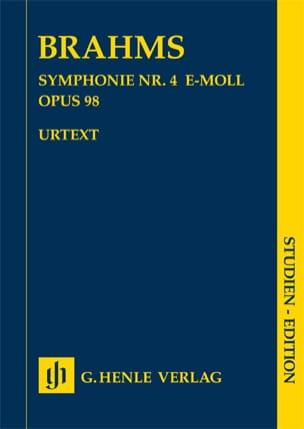 Symphonie n° 4 en mi mineur op. 98 BRAHMS Partition laflutedepan