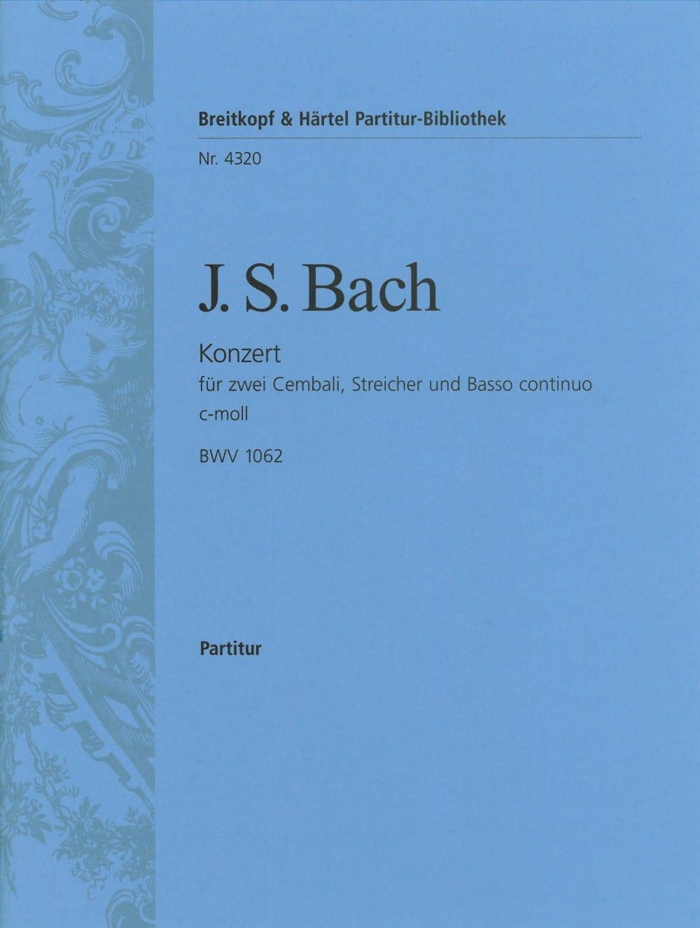 Konzert c-moll für 2 Cembali BWV 1062 - Conducteur - laflutedepan.com