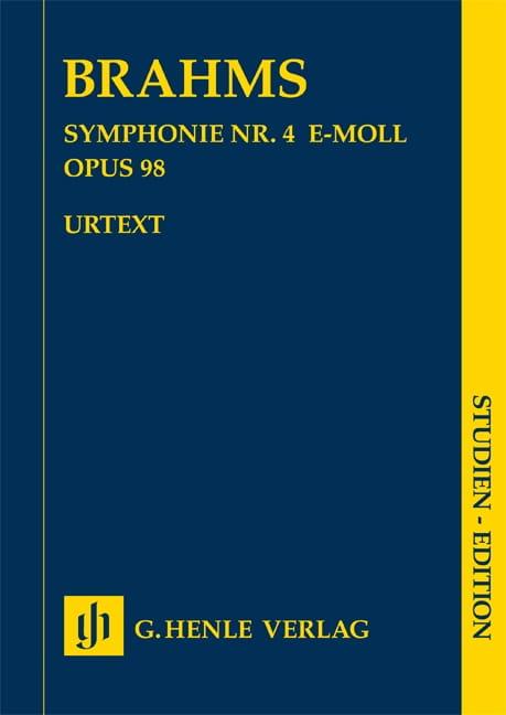 Symphonie n° 4 en mi mineur op. 98 - BRAHMS - laflutedepan.com