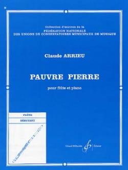 Pauvre Pierre Claude Arrieu Partition laflutedepan