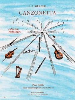 Canzonetta Jean-Jacques Werner Partition Violon - laflutedepan