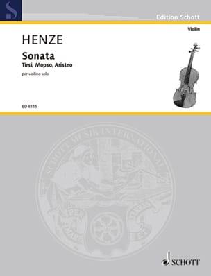 Sonata 1977 / rev. 1992 - Violon Hans Werner Henze laflutedepan