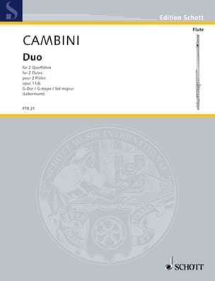 Duo G-Dur op. 11 Nr. 6 - 2 Flöten Giuseppe Maria Cambini laflutedepan