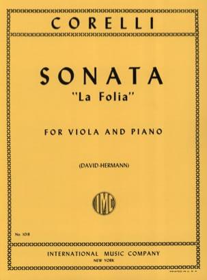 Sonate La Folia op. 5 n° 12 CORELLI Partition Alto - laflutedepan