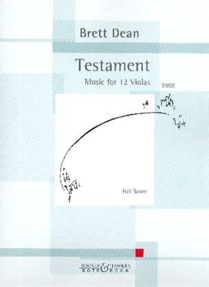 Testament - Brett Dean - Partition - Grand format - laflutedepan.com