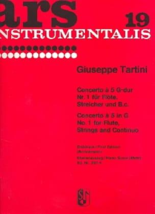 Concerto à 5 G-Dur Nr. 1 -Flöte Klavier - TARTINI - laflutedepan.com