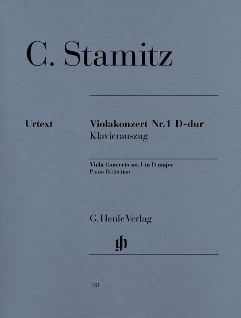 Concerto pour Alto N° 1, Ré Majeur - STAMITZ - laflutedepan.com