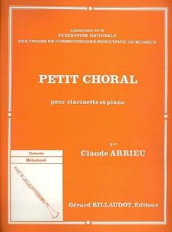 Petit choral - Claude Arrieu - Partition - laflutedepan.com