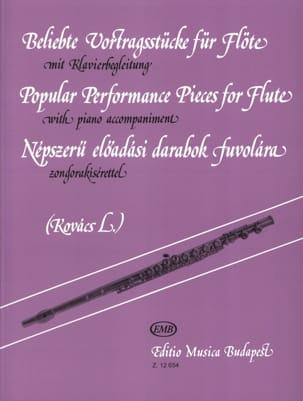 Popular performance pieces for Flute Lorant Kovacs laflutedepan