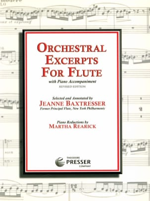 Orchestral excerpts for flute Jeanne Baxtresser laflutedepan