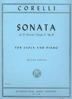 Sonate en ré mineur, op. 5 n° 8 CORELLI Partition Alto - laflutedepan