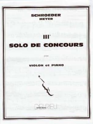 Solo de Concours n° 3 en Sol Majeur - laflutedepan.com