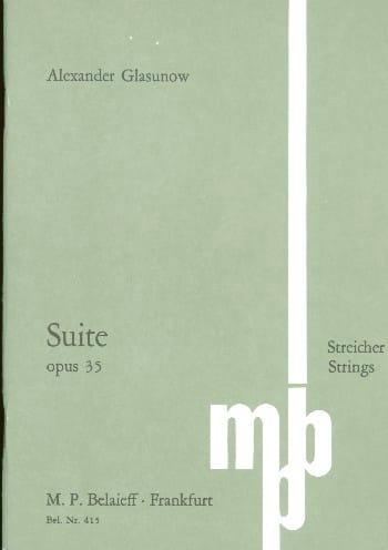 Suite En Do Maj. Op.35 - Alexandre Glazounov - laflutedepan.com