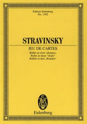 Jeu De Cartes - Conducteur STRAVINSKY Partition laflutedepan