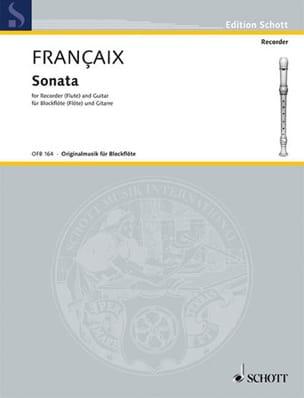 Sonata - Blockflöte Gitarre FRANÇAIX Partition Duos - laflutedepan