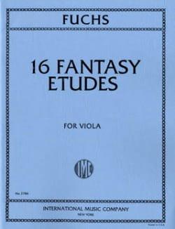 16 Fantasy Etudes Lillian Fuchs Partition Alto - laflutedepan