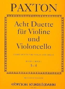 8 Duette für Violine und Violoncello - Bd.1 1-4 - laflutedepan.com
