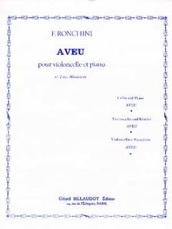 Aveu F. Ronchini Partition Violoncelle - laflutedepan