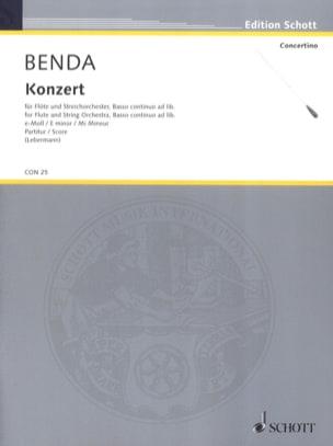 Concerto pour Flûte en Mi mineur - Franz Benda - laflutedepan.com