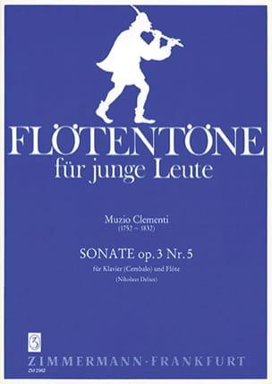 Sonate, op. 3 n° 5 - Flöte Klavier Cembalo CLEMENTI laflutedepan