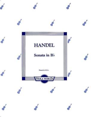 Sonata in B flat - Viola HAENDEL Partition Alto - laflutedepan
