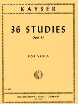 36 Studies op. 43 - Viola Heinrich Ernst Kayser Partition laflutedepan