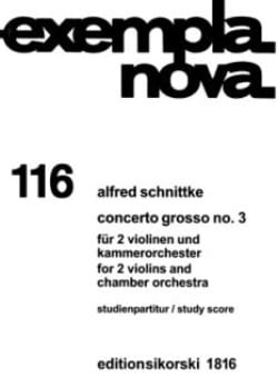 Concerto grosso Nr. 3 - Partitur SCHNITTKE Partition laflutedepan