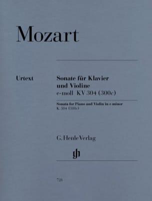 Sonate en Mi Mineur Kv 304 300c MOZART Partition Violon - laflutedepan