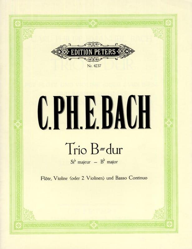 Trio en sib maj. Wq 161 - Flöte Violine Bc - laflutedepan.com