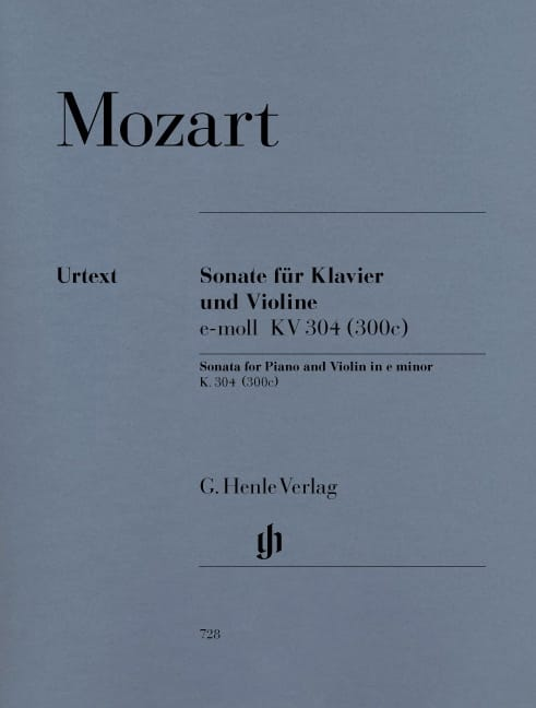 Sonate en Mi Mineur Kv 304 300c - MOZART - laflutedepan.com