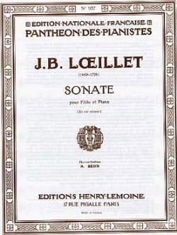 Sonate en sol mineur - Flûte piano - laflutedepan.com