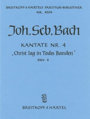 Kantate 4 Christ Lag In Todes Banden BACH Partition laflutedepan